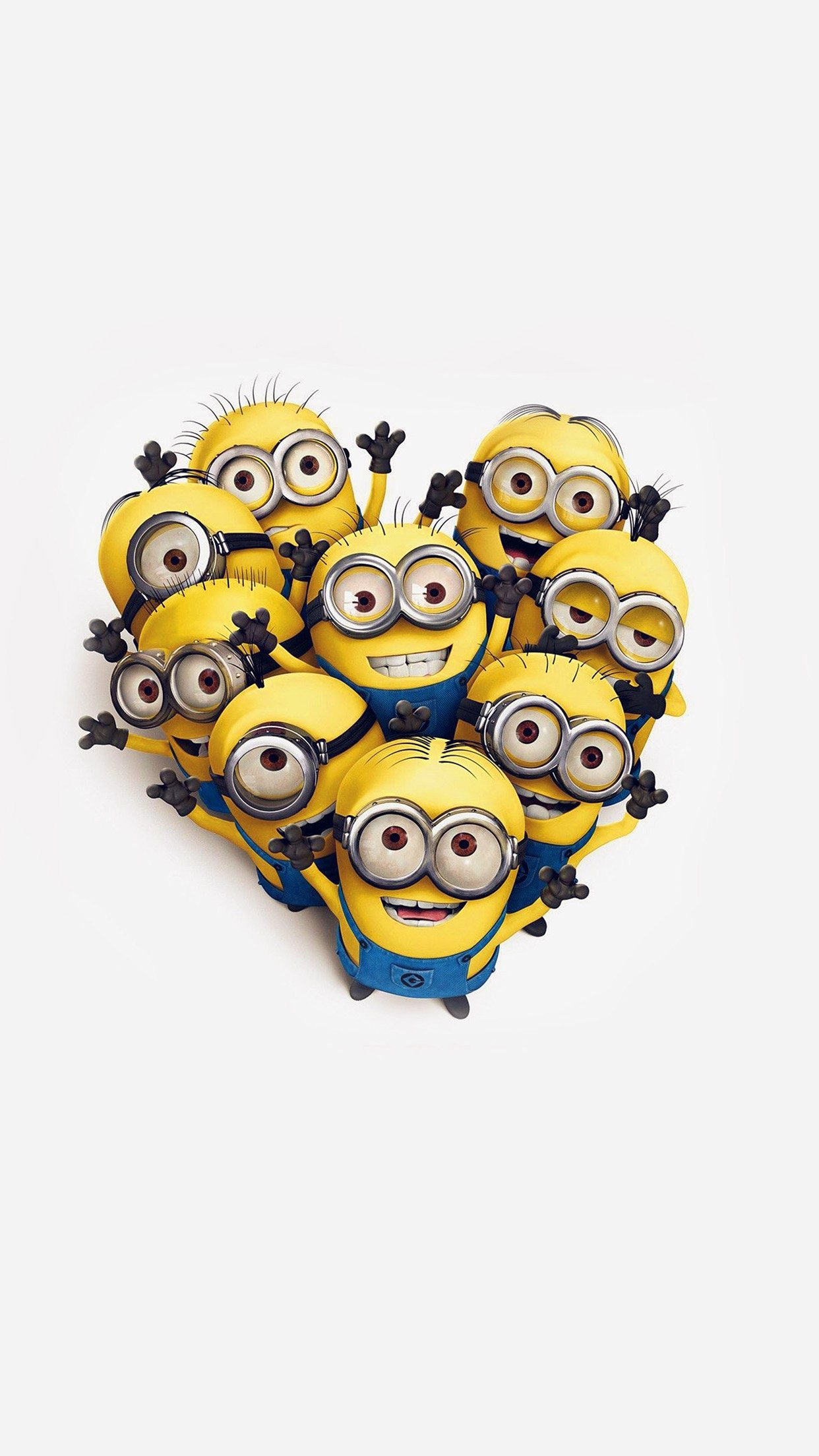 Minions Love Heart Cute Film Anime Art Android wallpaper