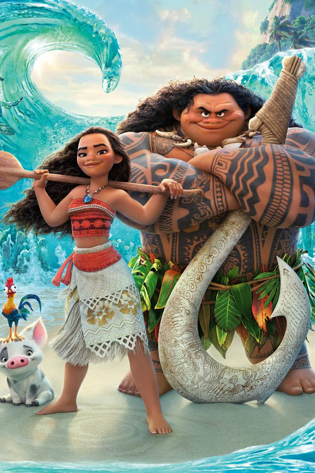Moana Disney Art Sea Anime Illustration Art Android wallpaper