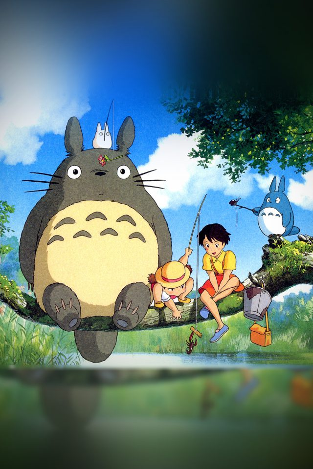 My Neighbor Totoro Anime Art Illustration Android wallpaper