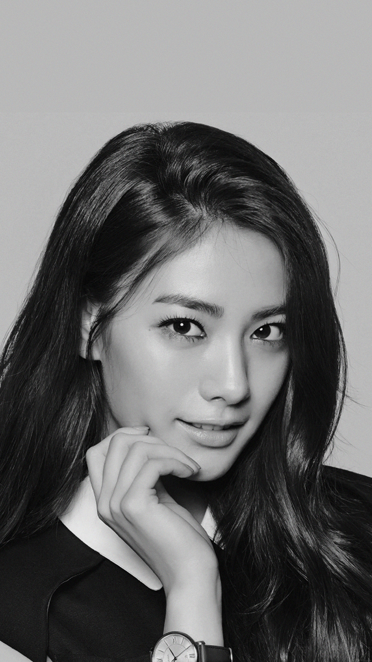 Nana Kpop Idol Dark Bw Music Sexy Girl Android Wallpaper