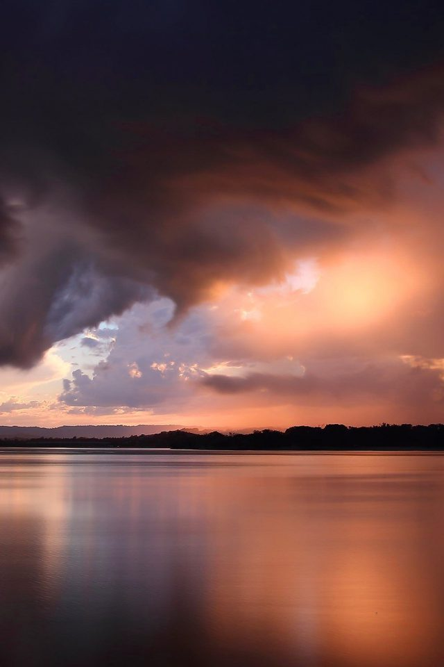 Nature Sky Lake Cloud Sunset Summer Afternoon Android wallpaper