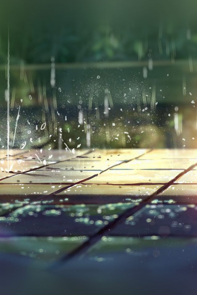 Rainning Illustration Anime Art Nature Android wallpaper