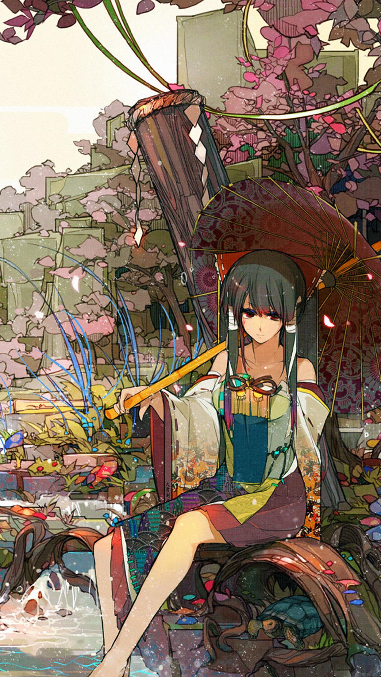 Sakura Sora Illust Anime Art Android wallpaper - Android ...