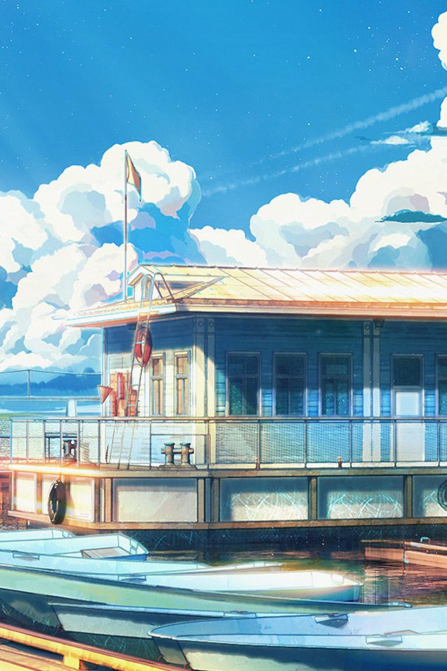 Sea Illustration Art Anime Painting Arseniy Chebynkin Android wallpaper