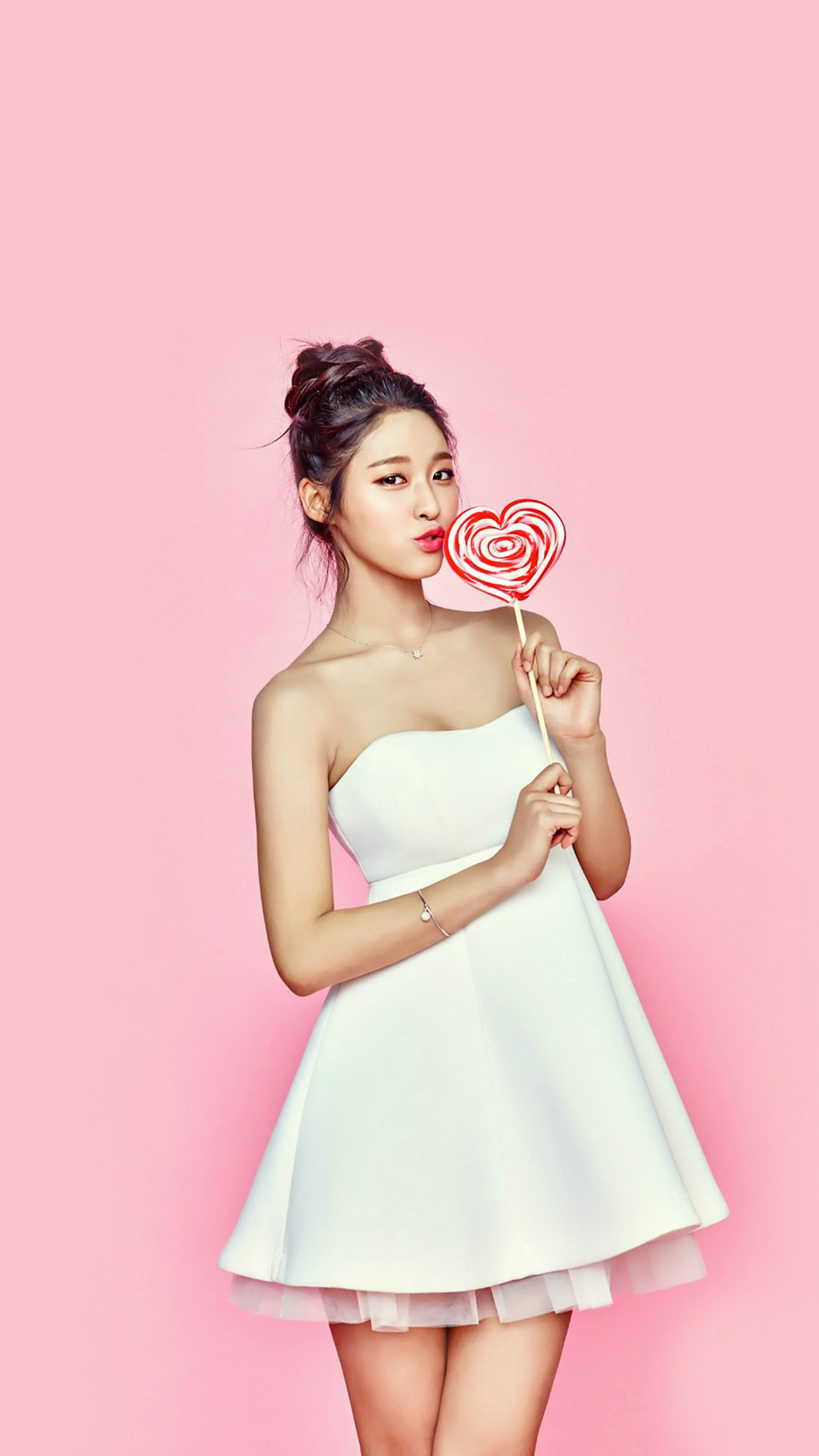 Seolhyun Kpop Valentines Candy Cute Android wallpaper