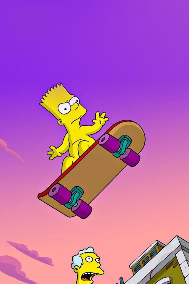 Simpson Anime Cartoon Bart Nude Art Illustration Android wallpaper