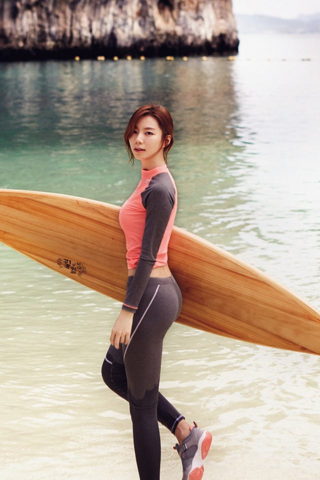 Sujin Beach Swim Vacation Kpop Film Android wallpaper
