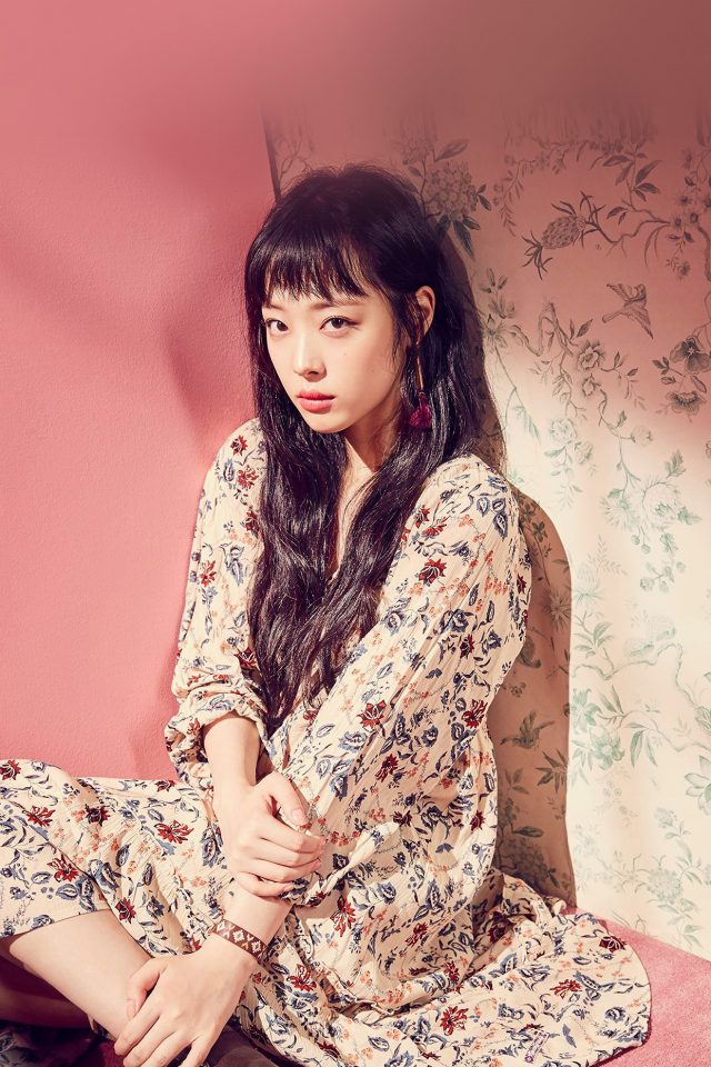 Sulli Kpop Fx Girl Pink Asian Android wallpaper