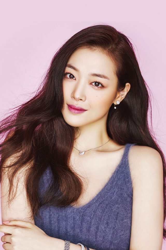 Sulli Kpop Pink Cute Girl Asian Android wallpaper