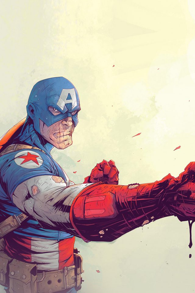 Toronto Revolver Illustration Art Anime Hero Captain America Android wallpaper