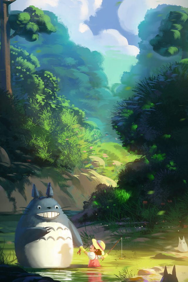 Totoro Anime Liang Xing Illustration Art Android wallpaper
