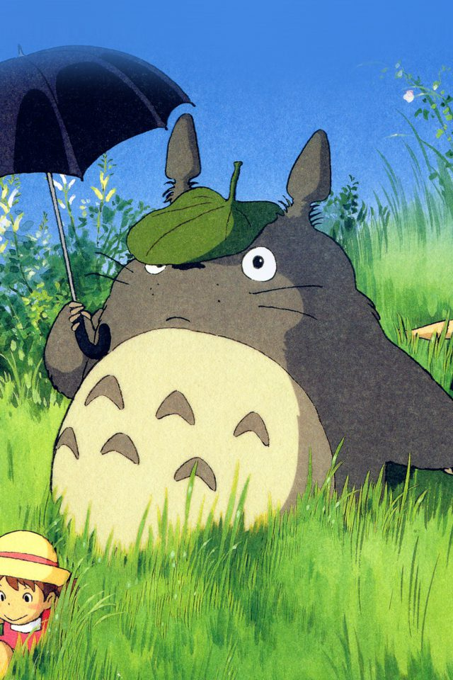Totoro Art Cute Anime Illustration Android wallpaper