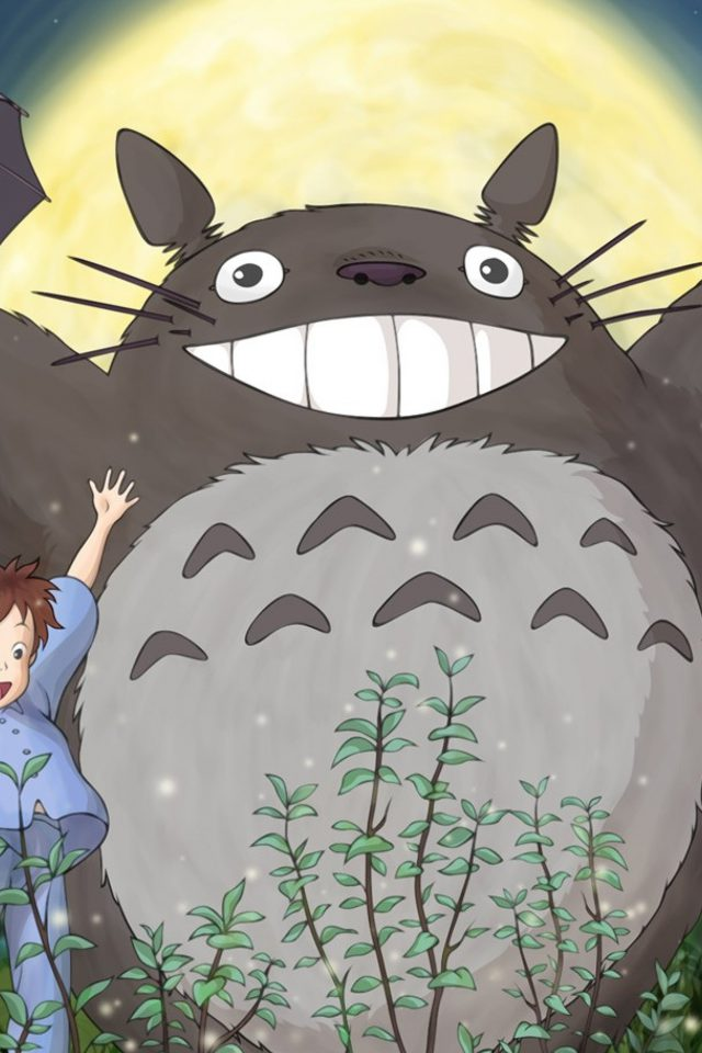 Totoro Forest Anime Cute Illustration Art Android wallpaper