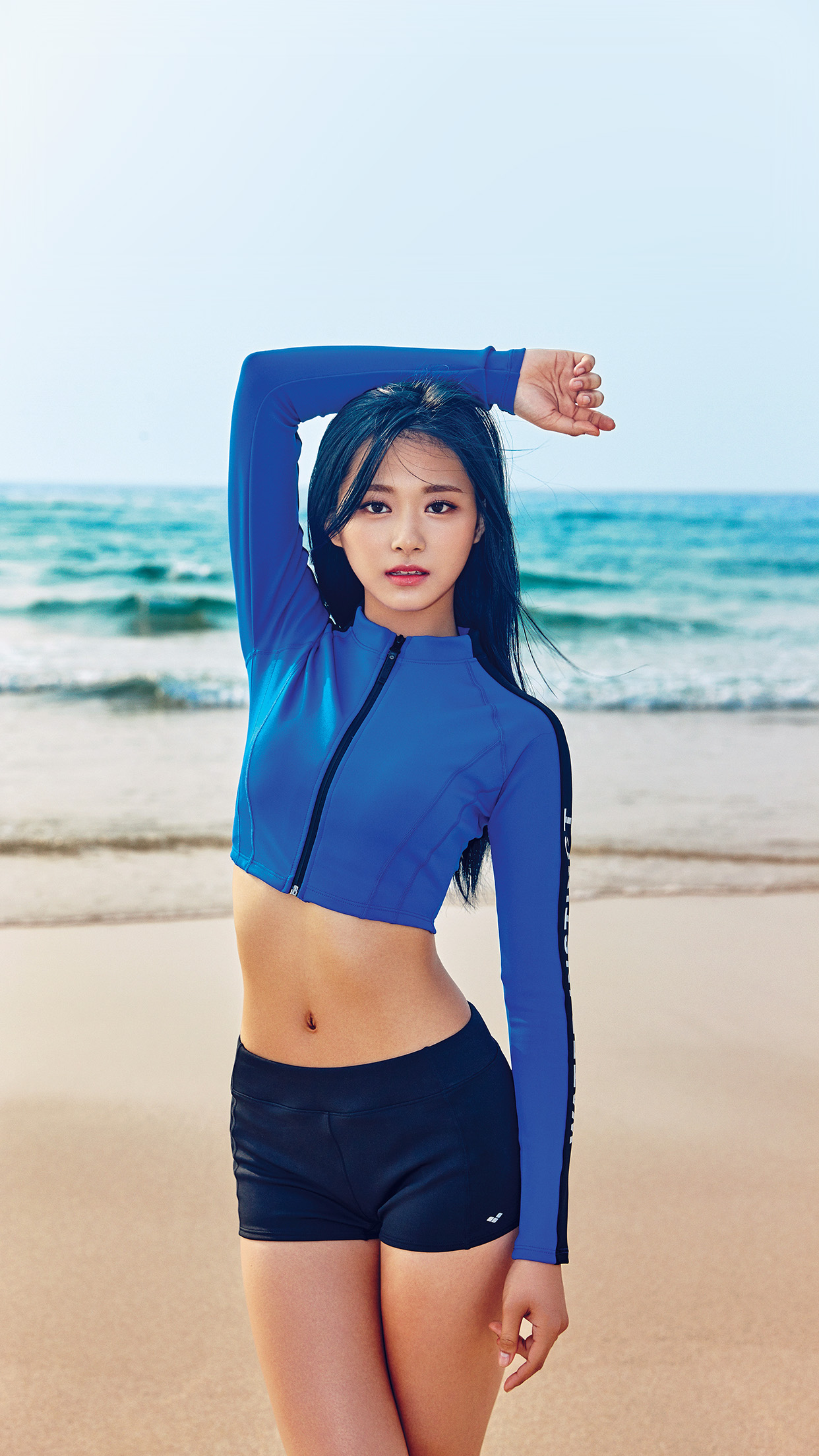 tzuyu kpop girl sea summer cool android wallpaper android hd wallpapers