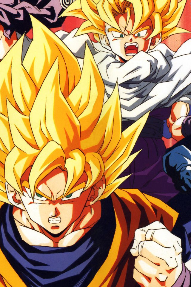 Wallpaper Dragonball Z Goku Fire Anime Android wallpaper