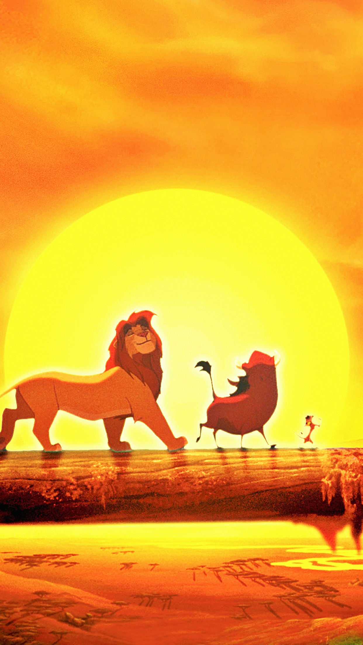 Walt Disney Lion King Anime Art Poster Android Wallpaper Android