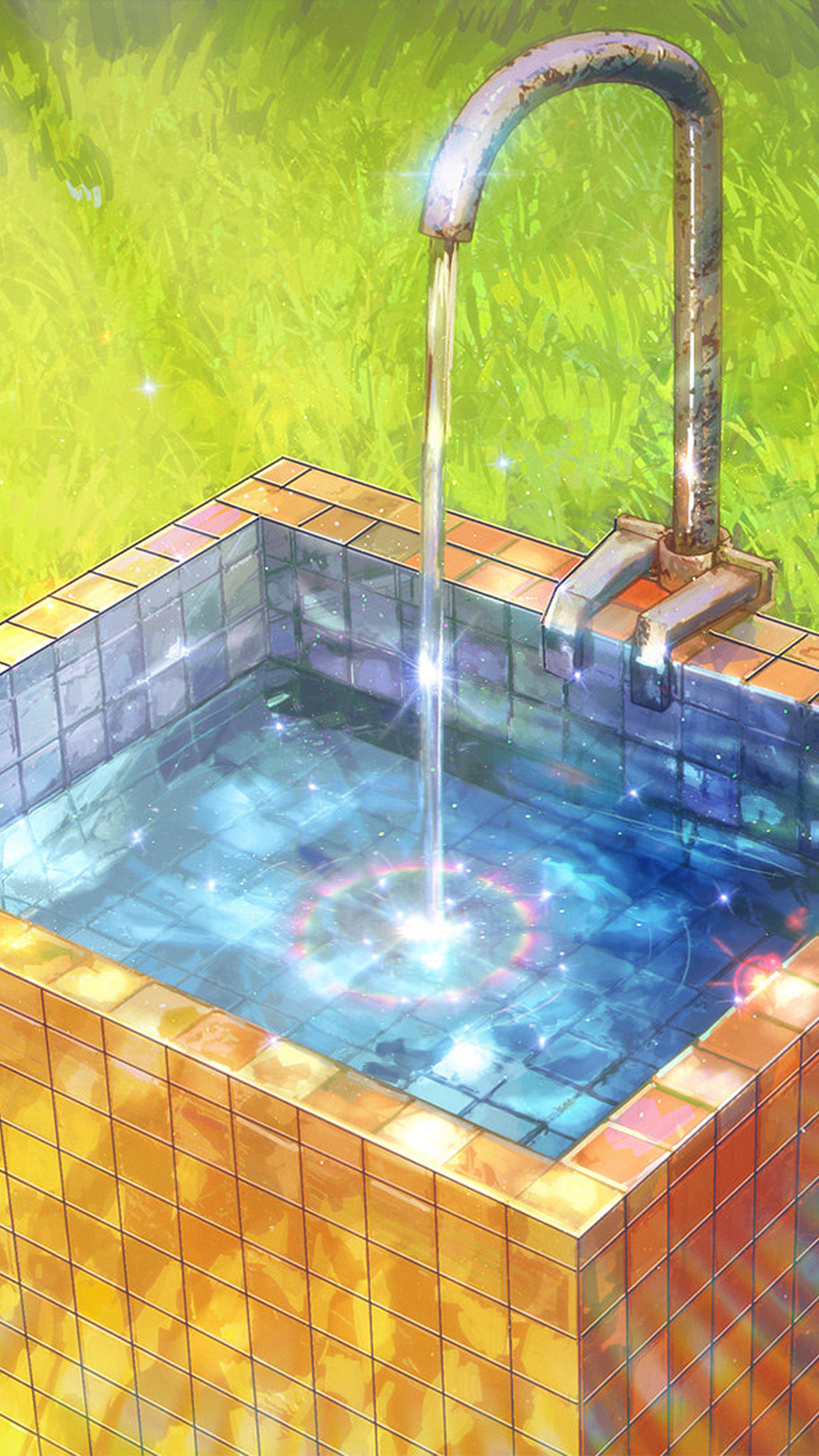 Water Anime Paint Color Illustration Art Arseniy Chebynkin Android wallpaper