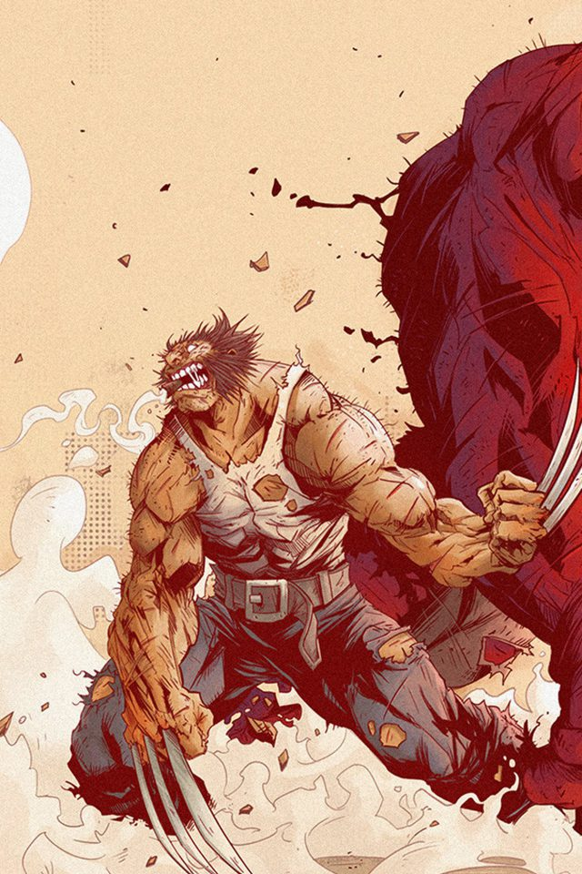 Wolverine Anime Tonton Revolver Illustration Art Android wallpaper