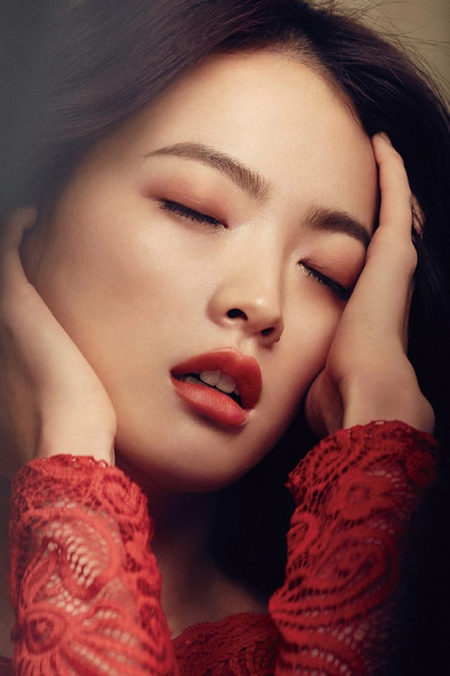 Woohee Chun Kpop Red Model Magazine Android wallpaper