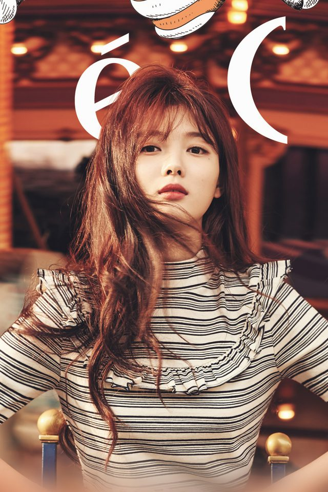 Yoojung Kpop Girl Orange Ceci Model Android wallpaper