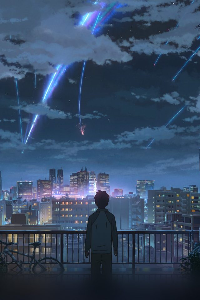 Yourname Night Anime Sky Illustration Art Android wallpaper