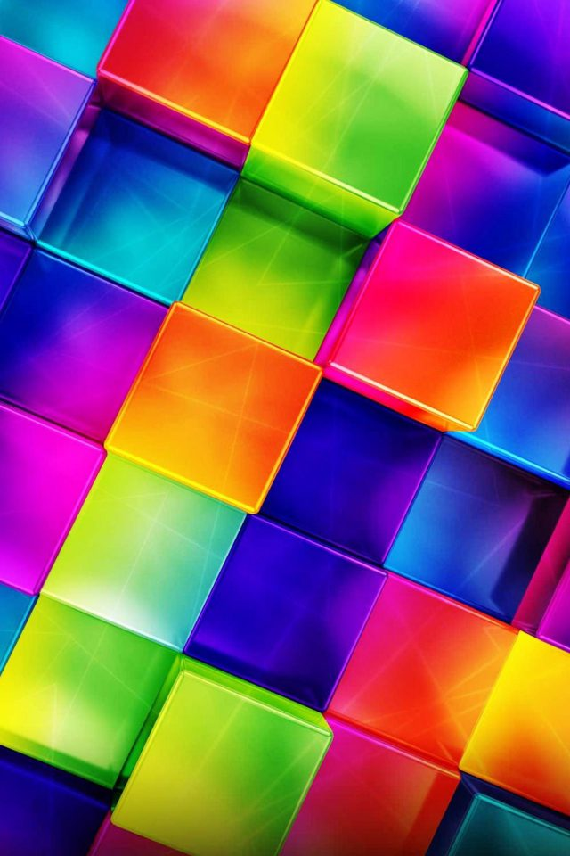 3D Geometric Colorful Android wallpaper
