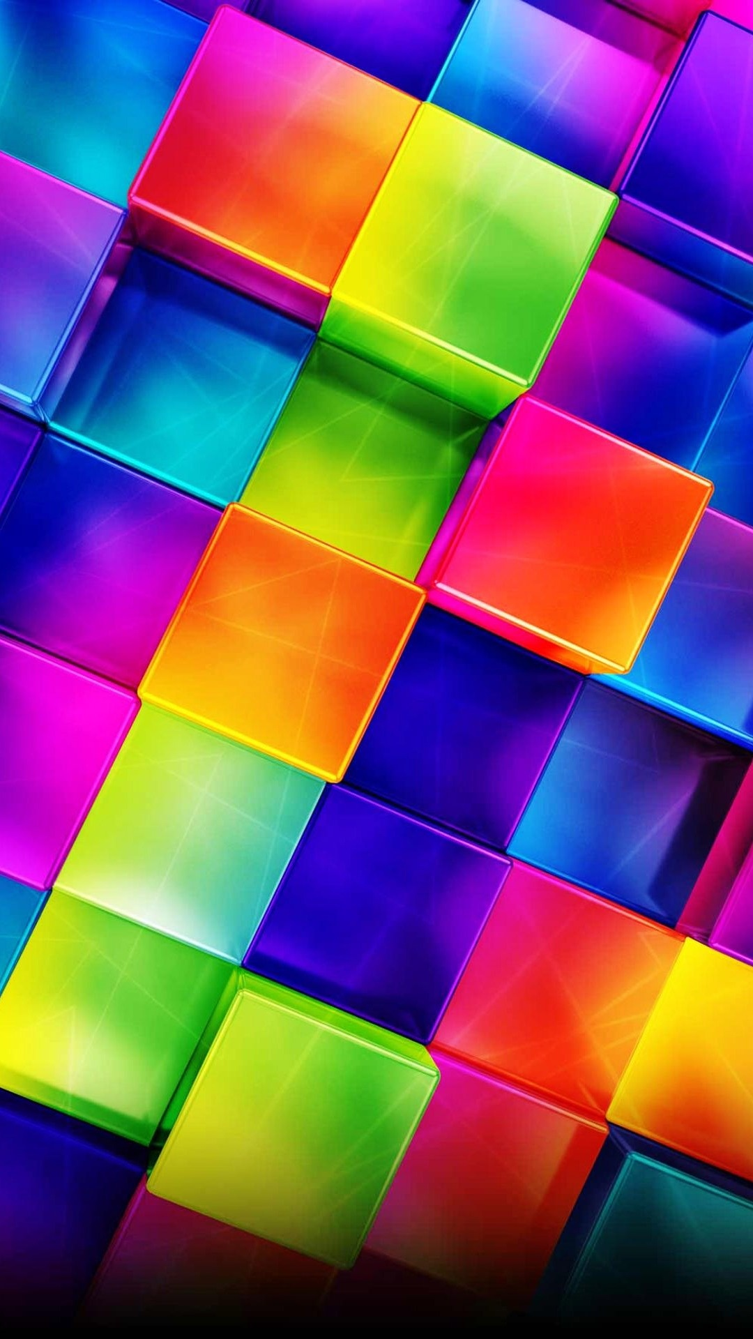 3d geometric colorful