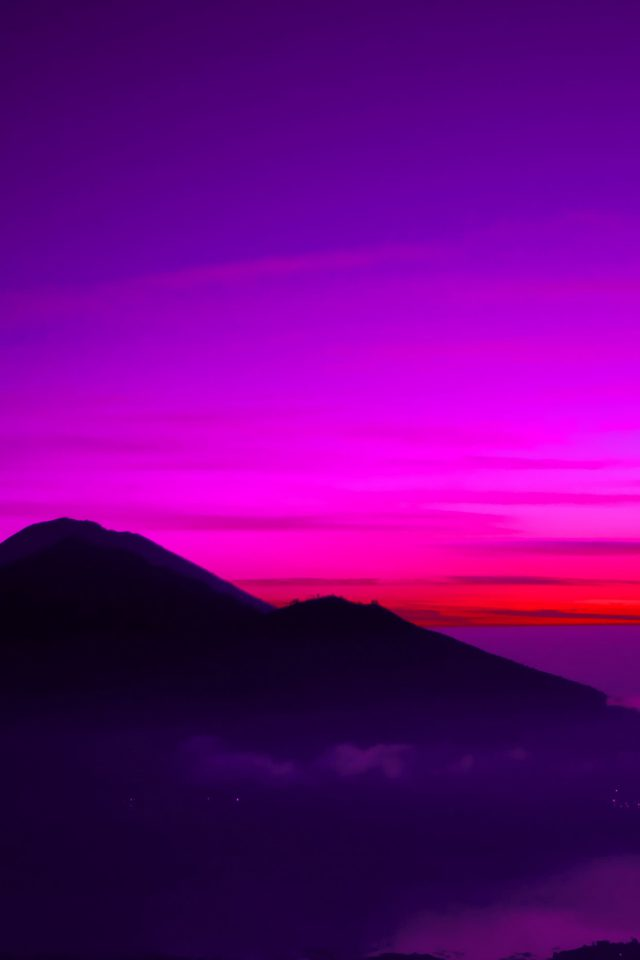 A Balinese Dream Mountain Sky Red Nature Android wallpaper