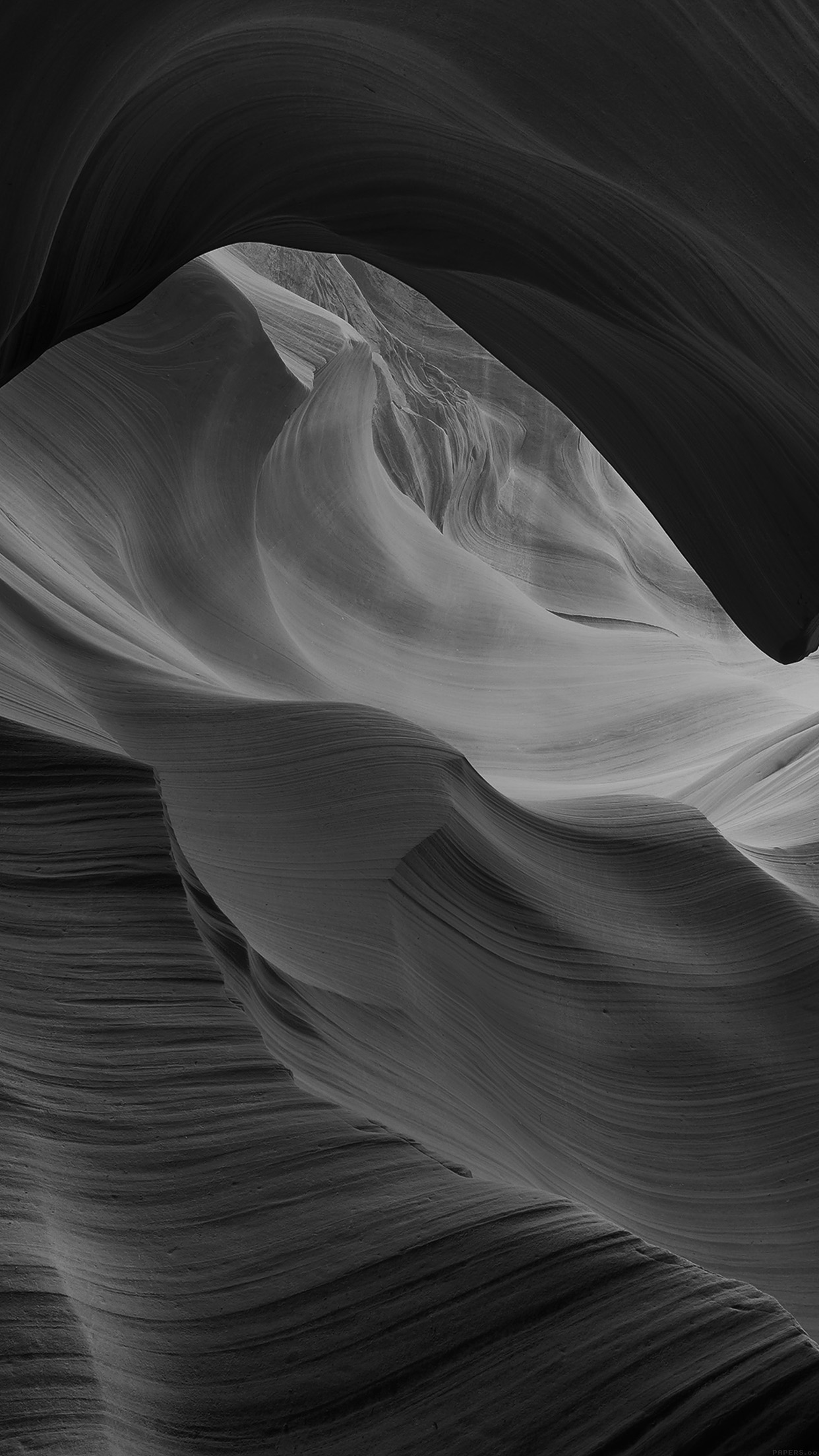 antelope canyon bw black mountain rock nature android wallpaper android hd wallpapers