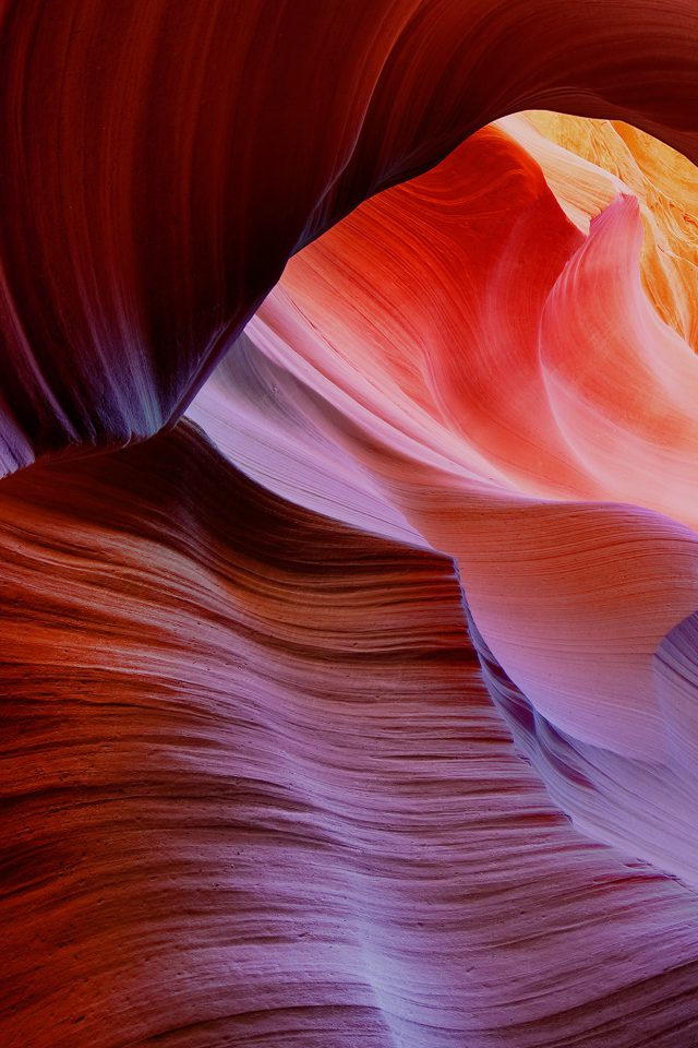 Antelope Canyon Mountain Rock Nature Android wallpaper