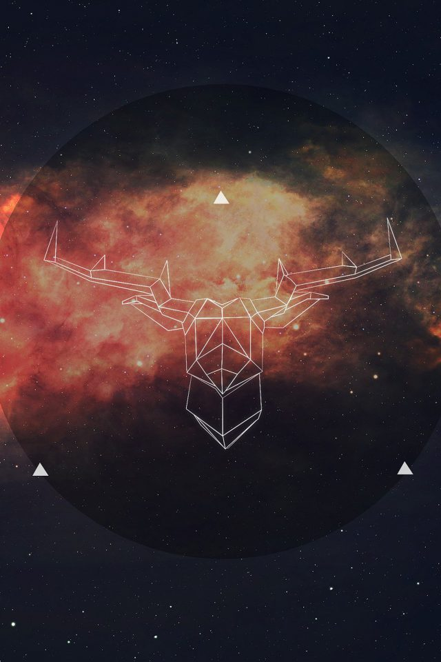Art Illust Deer Space Android wallpaper