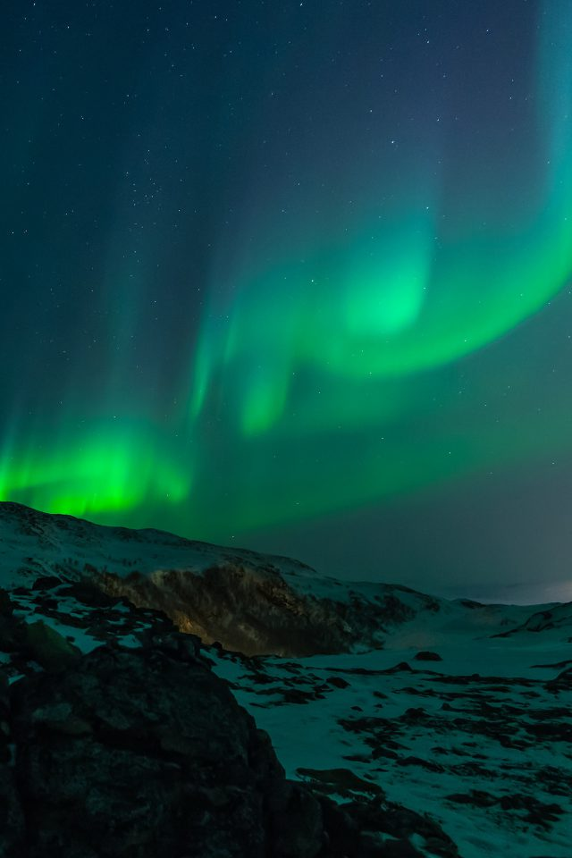 Aurora Nature Night Sky Android wallpaper