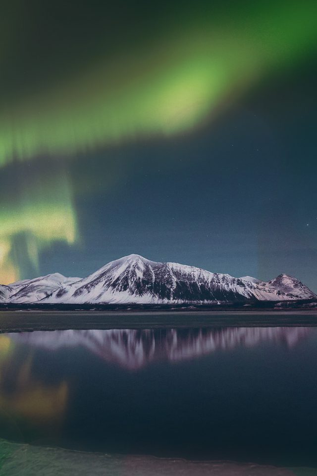 Aurora Night Sky Green Bokeh Instagram Art Nature Android wallpaper