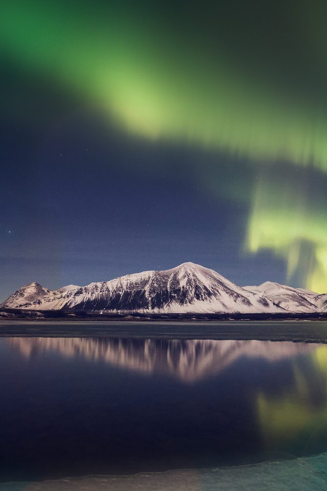 Aurora Night Sky Instagram Art Nature Android wallpaper