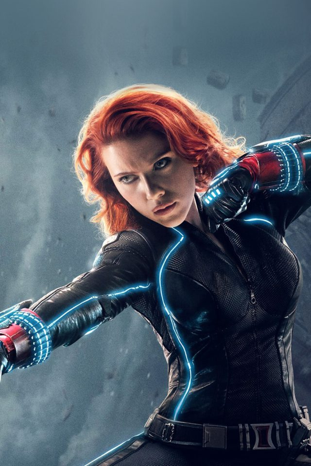 Avengers Age Of Ultron Black Widow Hero Film Android wallpaper