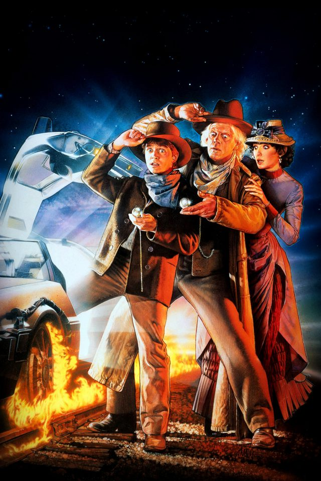 Back To The Future 3 Poster Film Art Android wallpaper