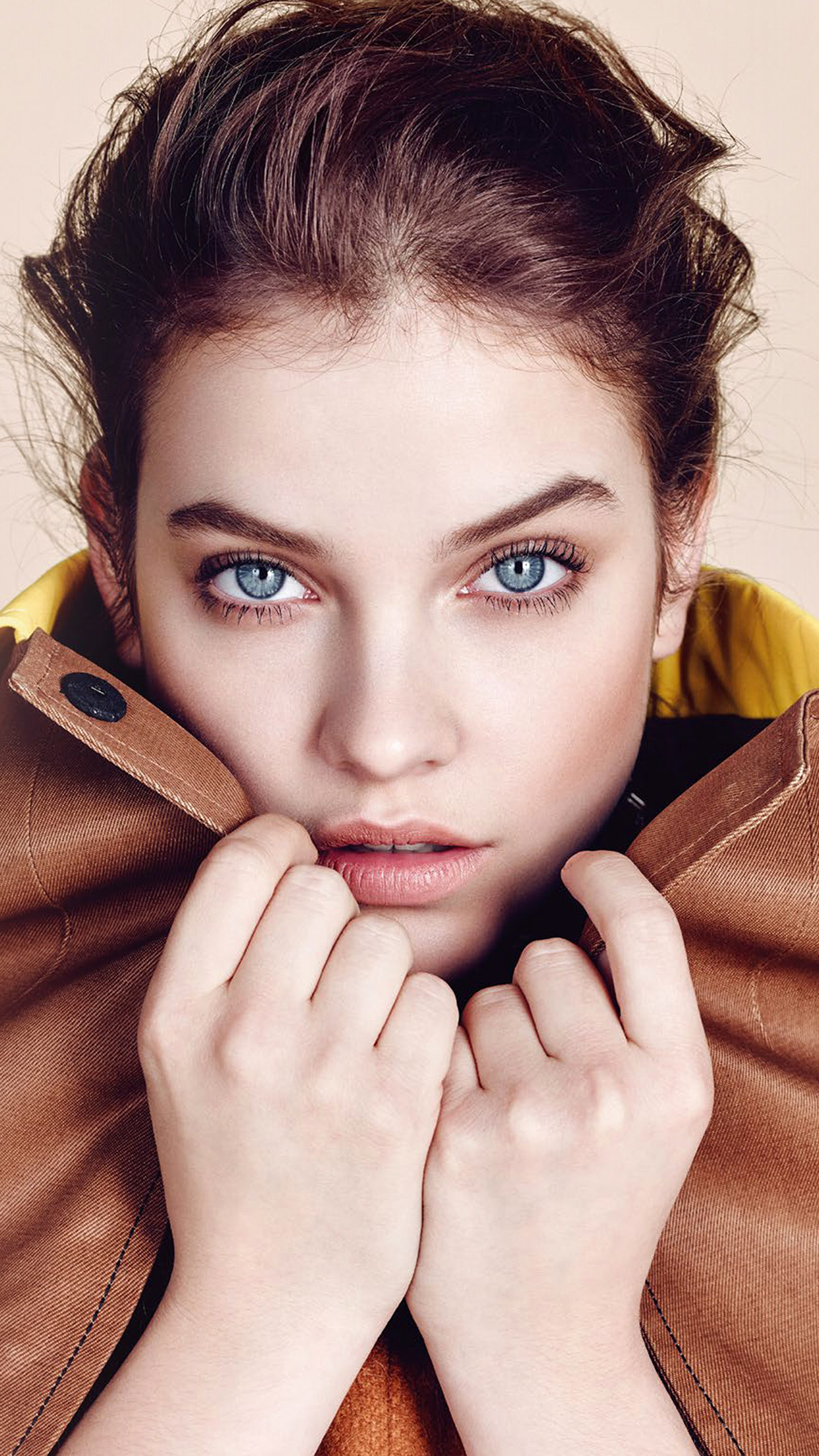 Barbara Palvin Face Model Android wallpaper