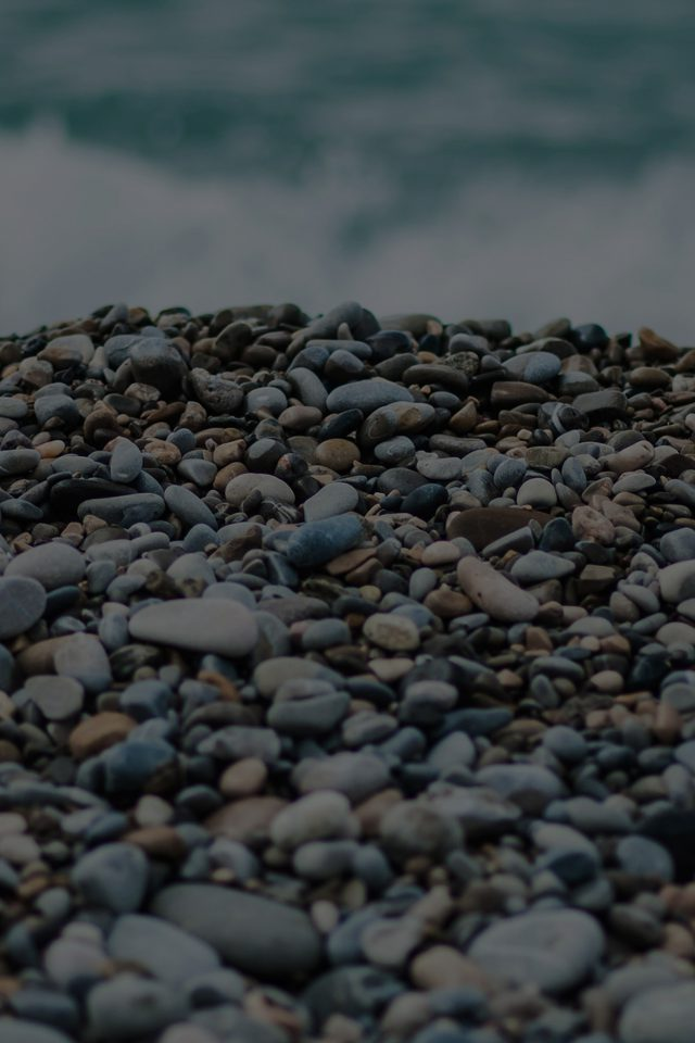 Beach Stones Sea Nature Dark Android wallpaper