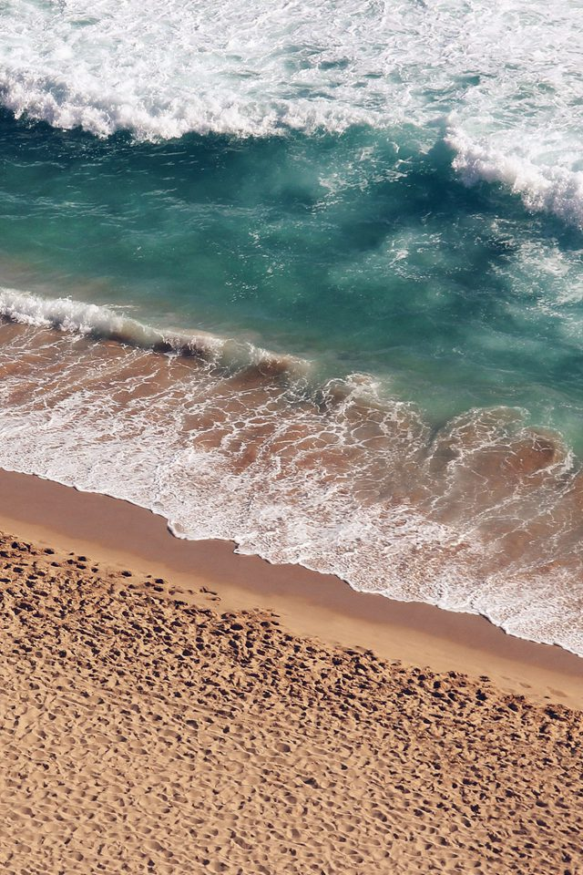 Beach Wave Coast Nature Sea Water Summer Android wallpaper