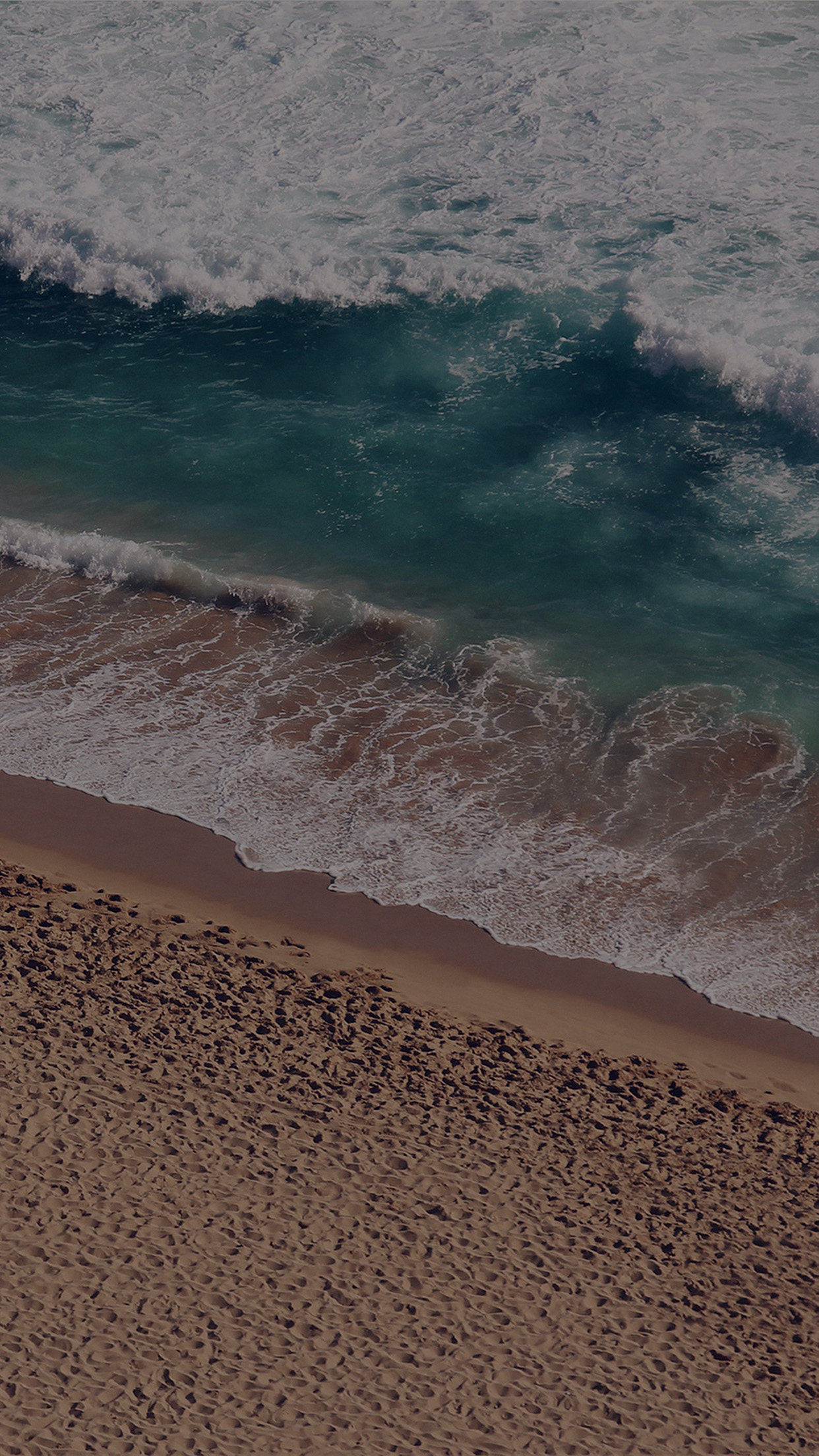 Beach Wave Coast Nature Sea Water Summer Dark Android wallpaper