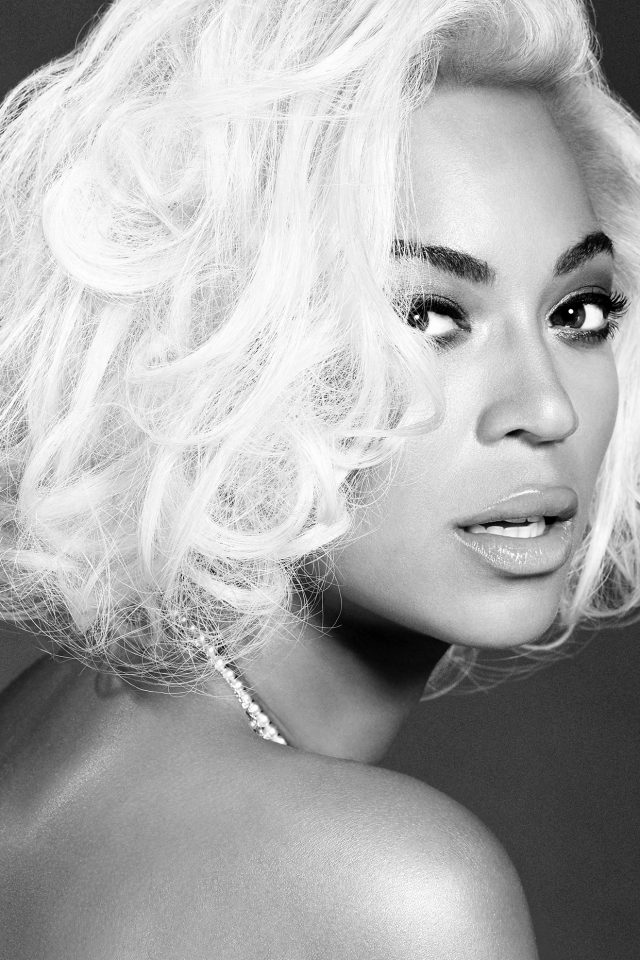 Beyonce Knowles Music Dark Bw Singer Android wallpaper