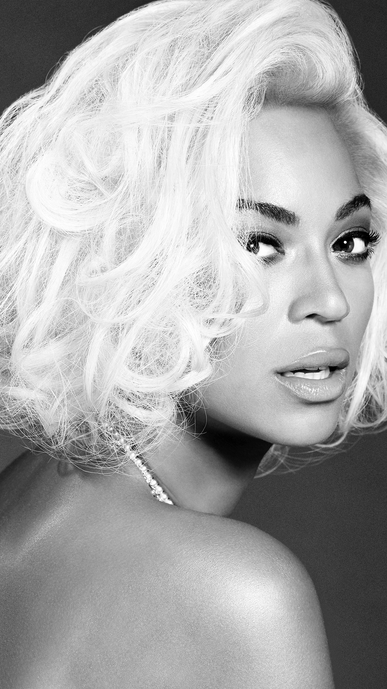Beyonce Knowles Music Dark Bw Singer Android wallpaper Android