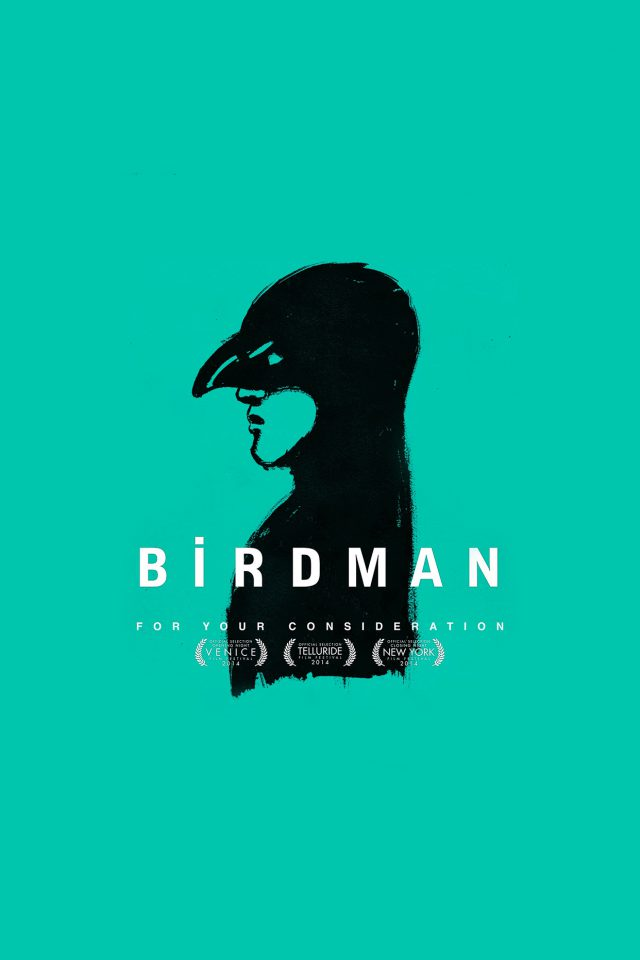 Birdman Poster Green Film Android wallpaper