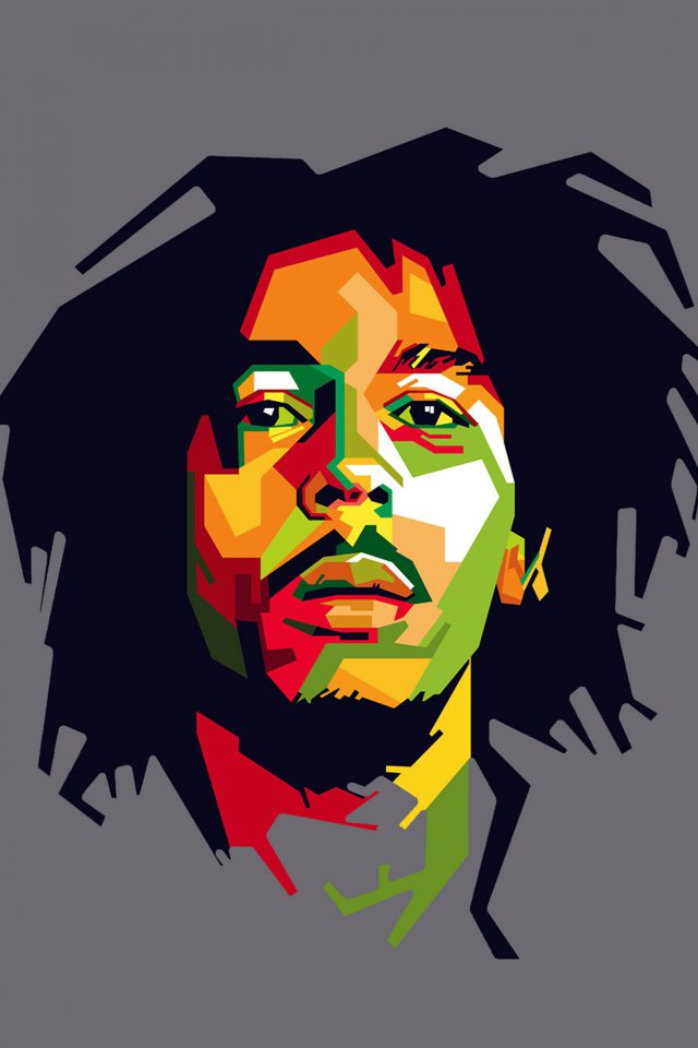 Bob Marley Art Illust Music Reggae Celebrity Android wallpaper