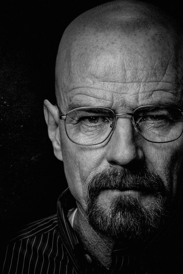 Breaking Bad Face Film Art Dark Android wallpaper