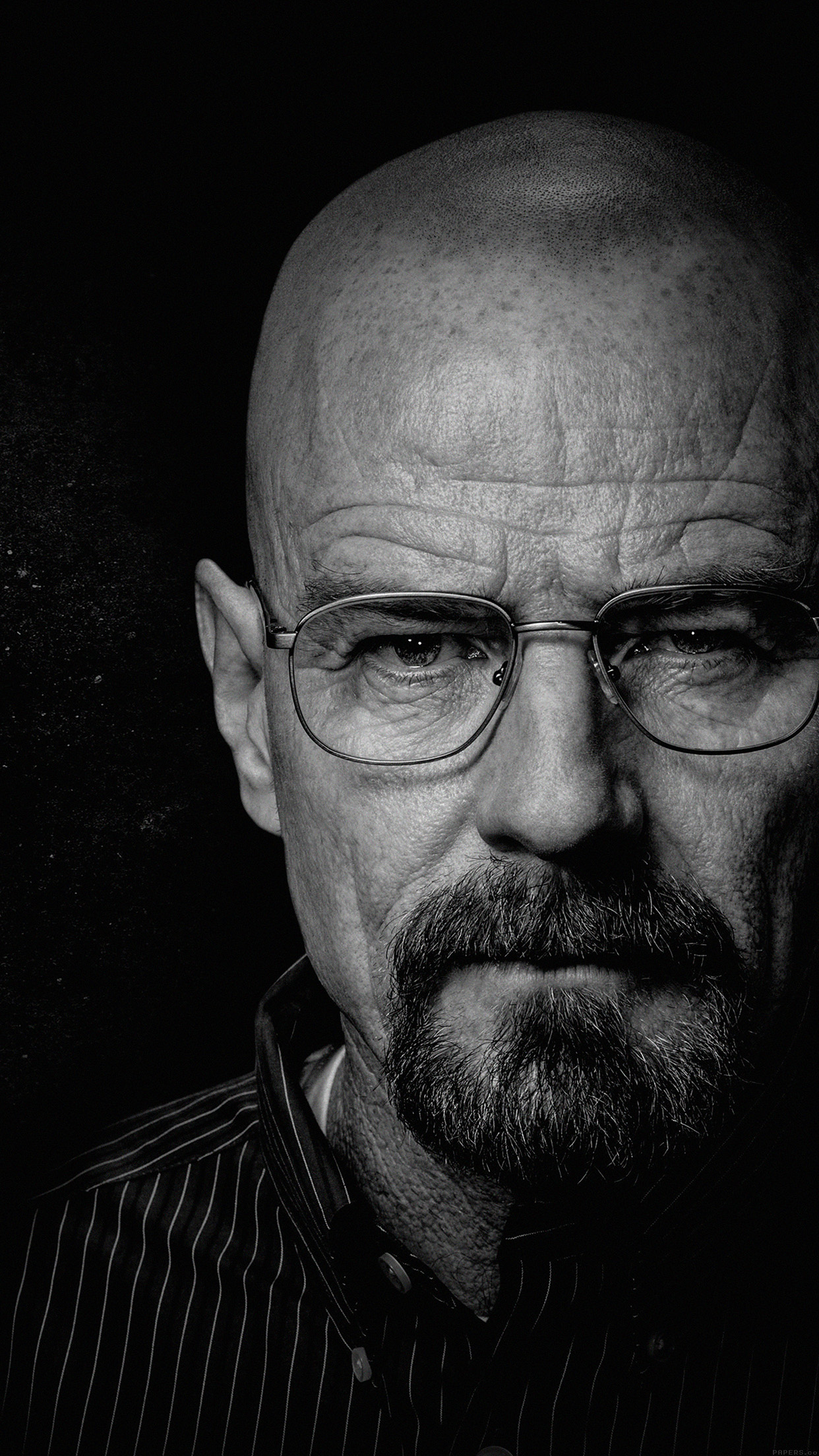 breaking bad face film art dark android wallpaper - android hd