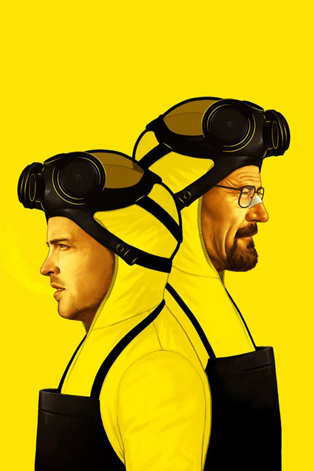 Breaking Bad Yellow Film Art Android wallpaper