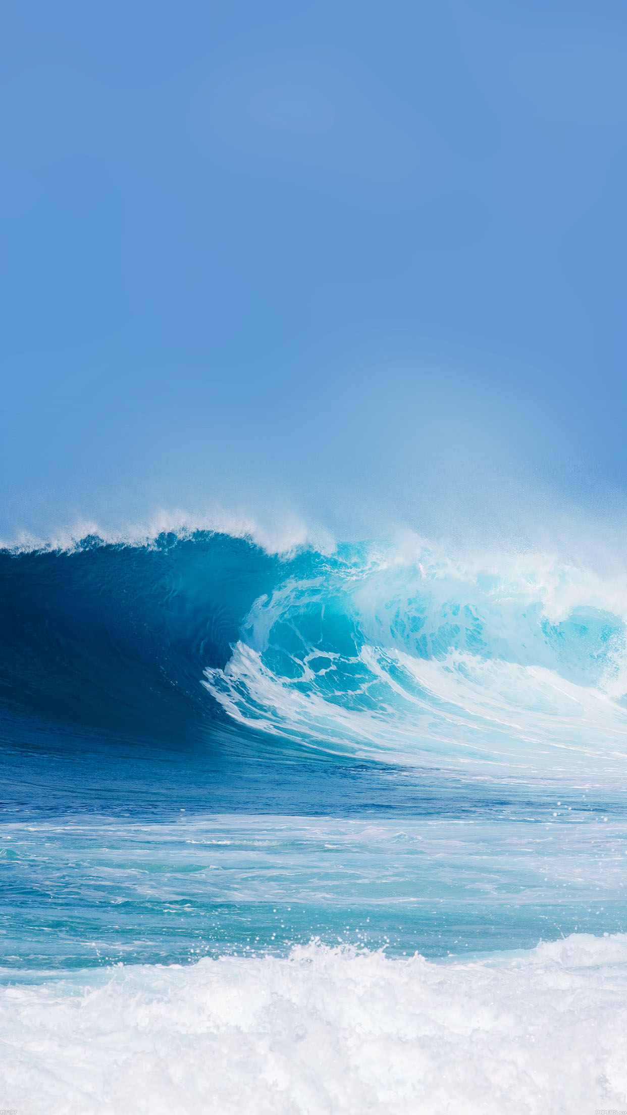 Breaking Wave Ocean Sea Day Nature Android wallpaper