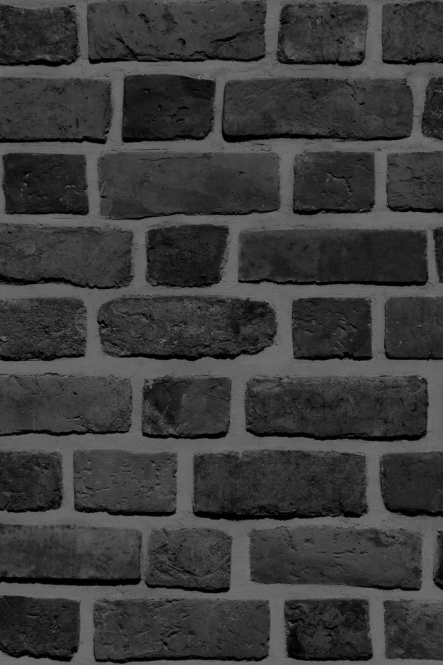 Brick Texture Wall Bw Black Nature Pattern Android wallpaper