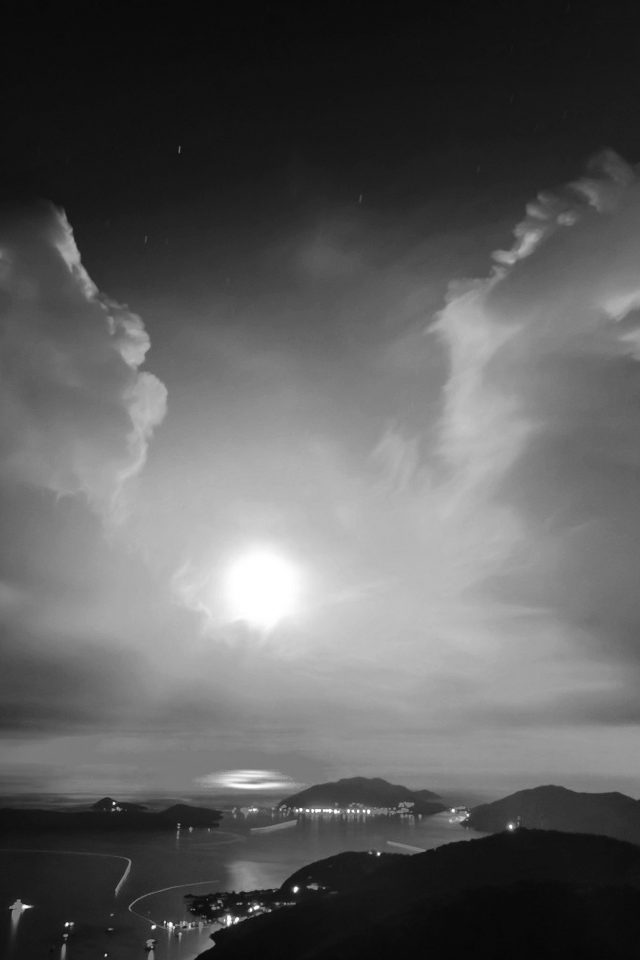 British Night Sunset Lake Sea Mountain Nature Bw Dark Android wallpaper